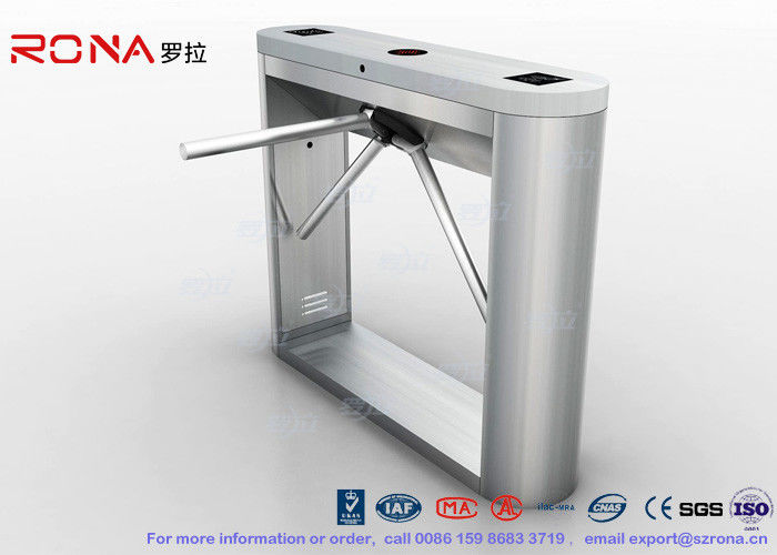 Fingerprint / Face Reader Pedestrian Turnstile Gate Solution 304 Stainless Steel
