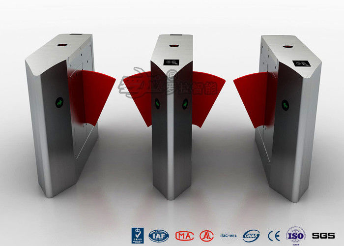 Access Control Flap Barrier Turnstile , Pedestrian Barrier Gate Infrared Sensors With IC/ID Card